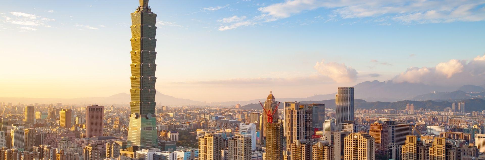 Taipeh Blick auf die Stadt mit Wolkenkratzer 101