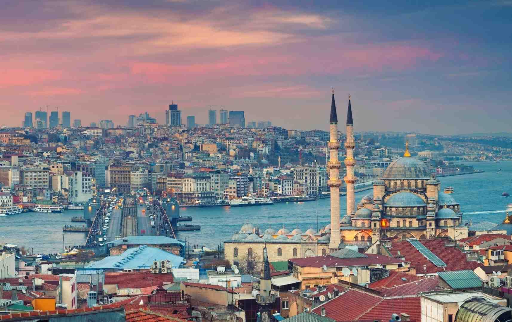 Istanbul Stadt mit Blick auf Bosporos