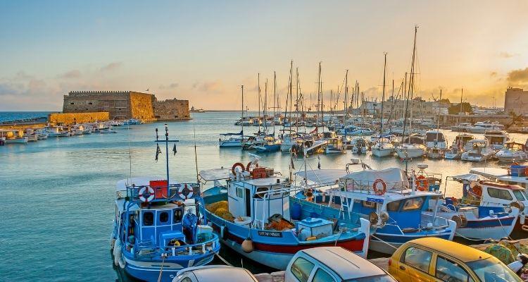 Griechenland Boote im Hafen