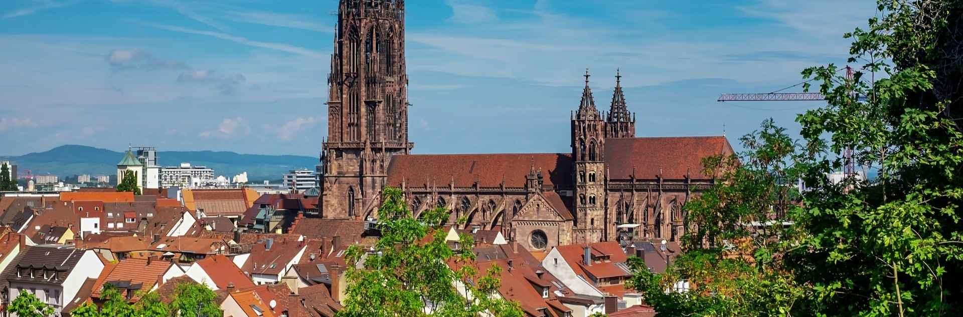 Freiburg Blick über die Stadt