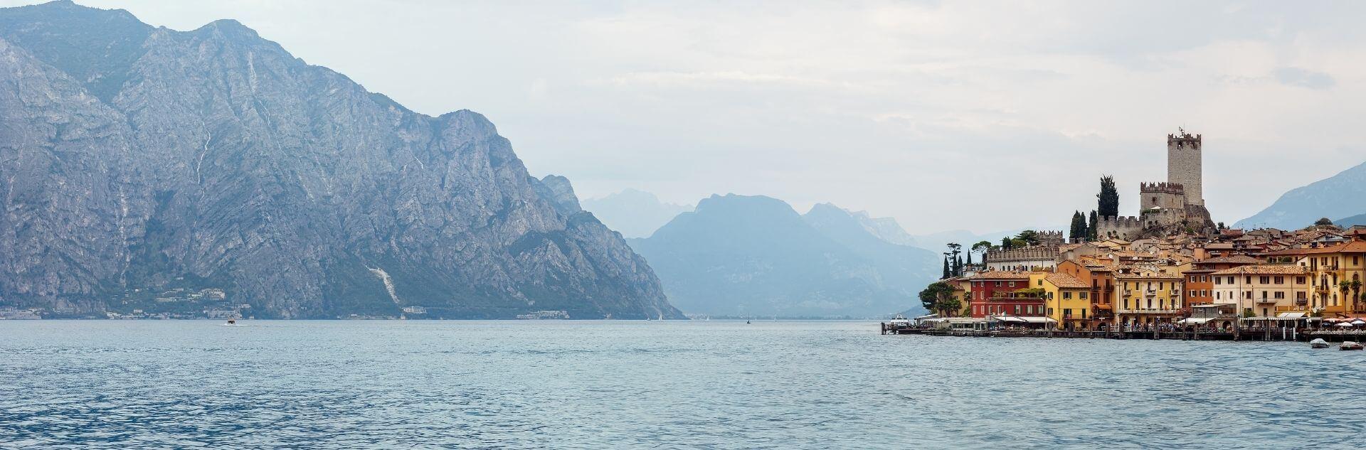 Panorama Malcesine Gardasee Italien