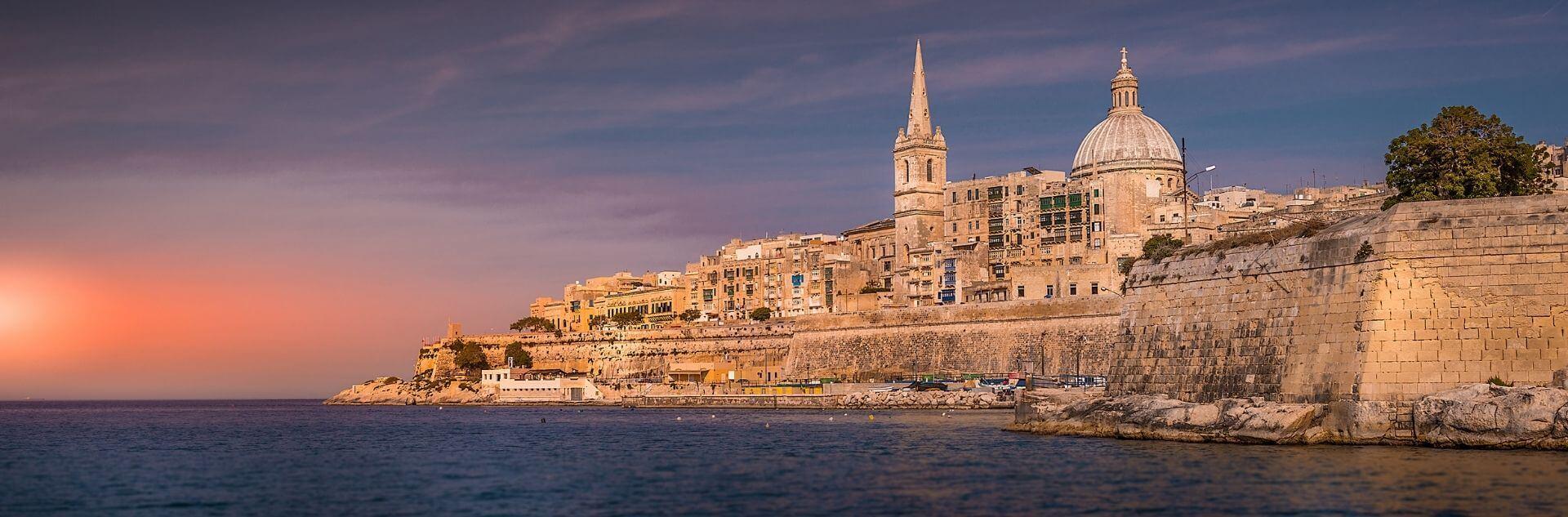 Valetta im Sonnenuntergang Malta