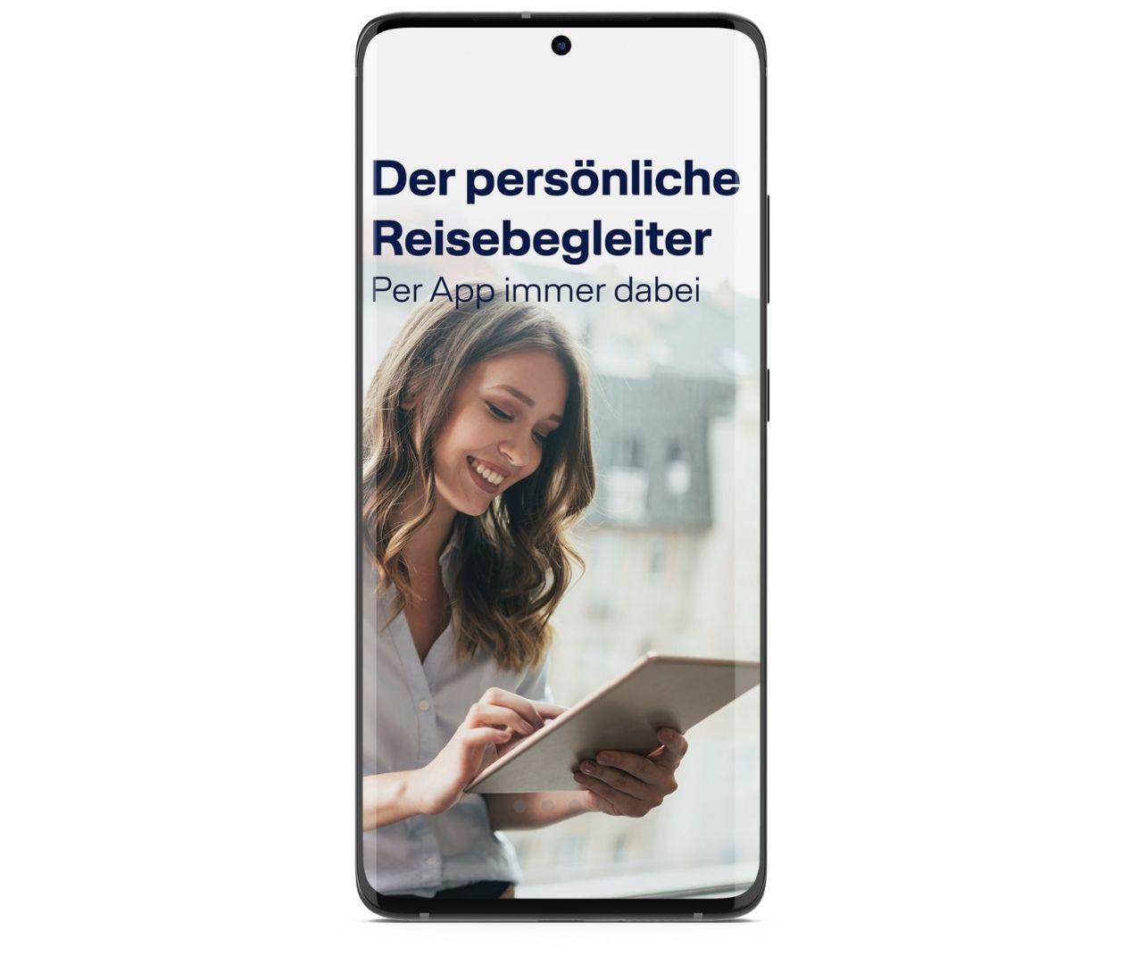 LCC App Intro Screen Reisebegleiter