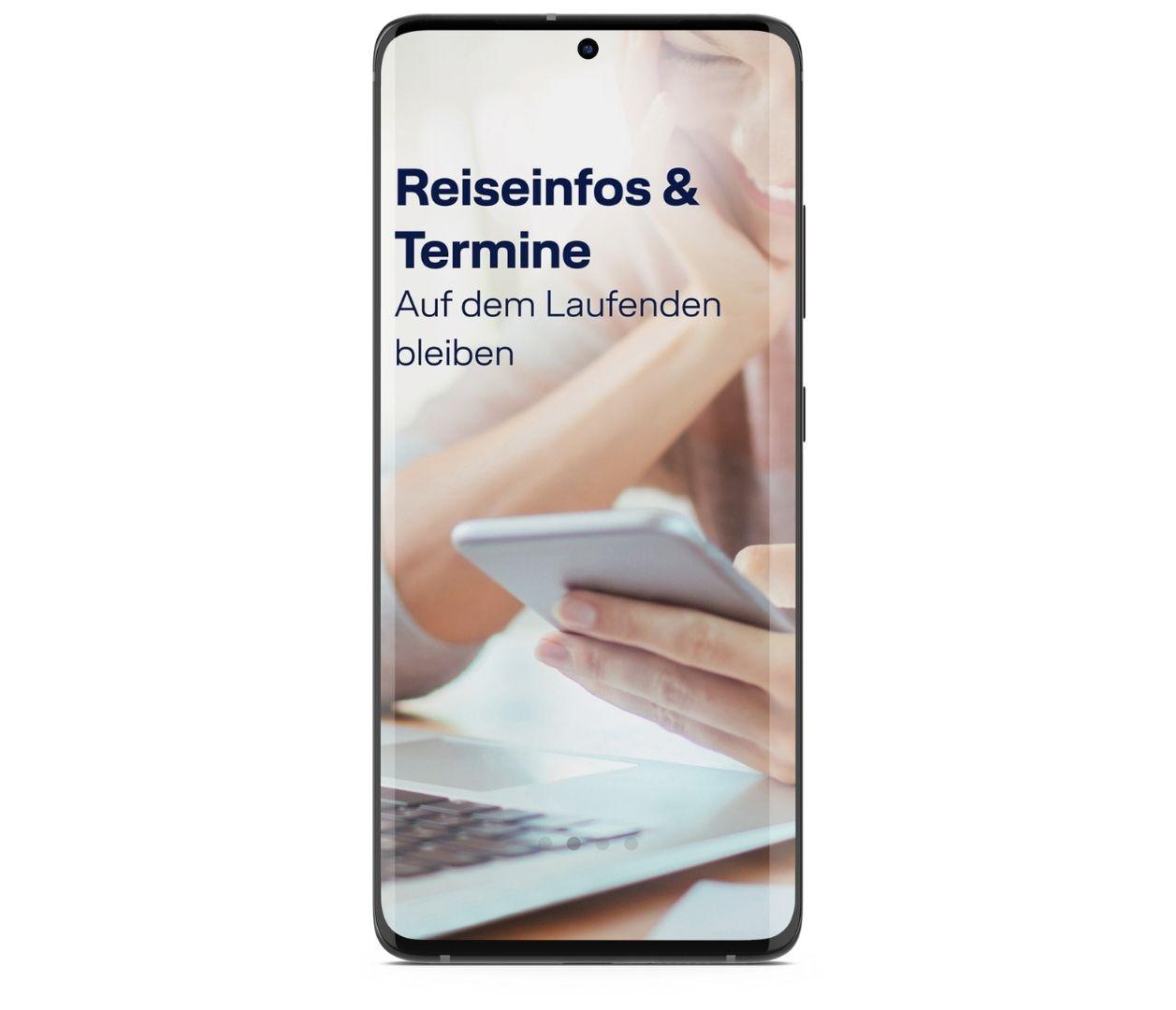 LCC App Intro Screen Reiseinfos