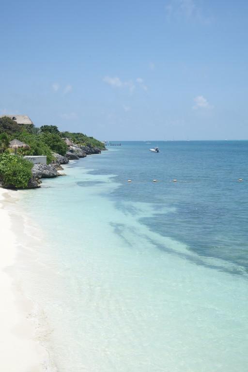 Strand in Mexiko Tulum