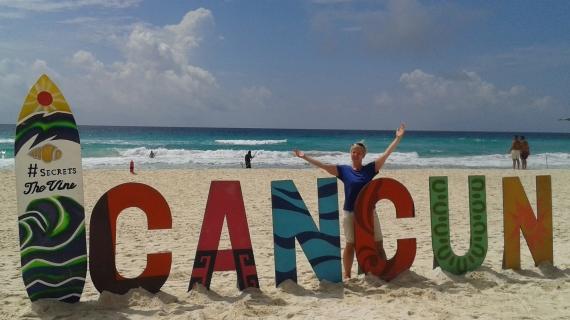 Strand von Cancun, Mexiko