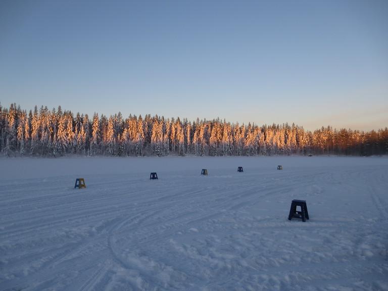 Eisangeln in Lappland 2