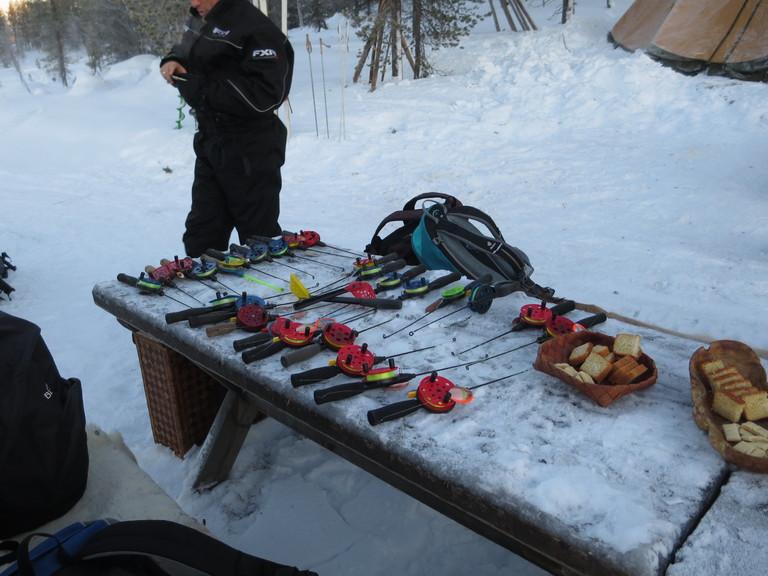 Equipment fuers Eisangeln