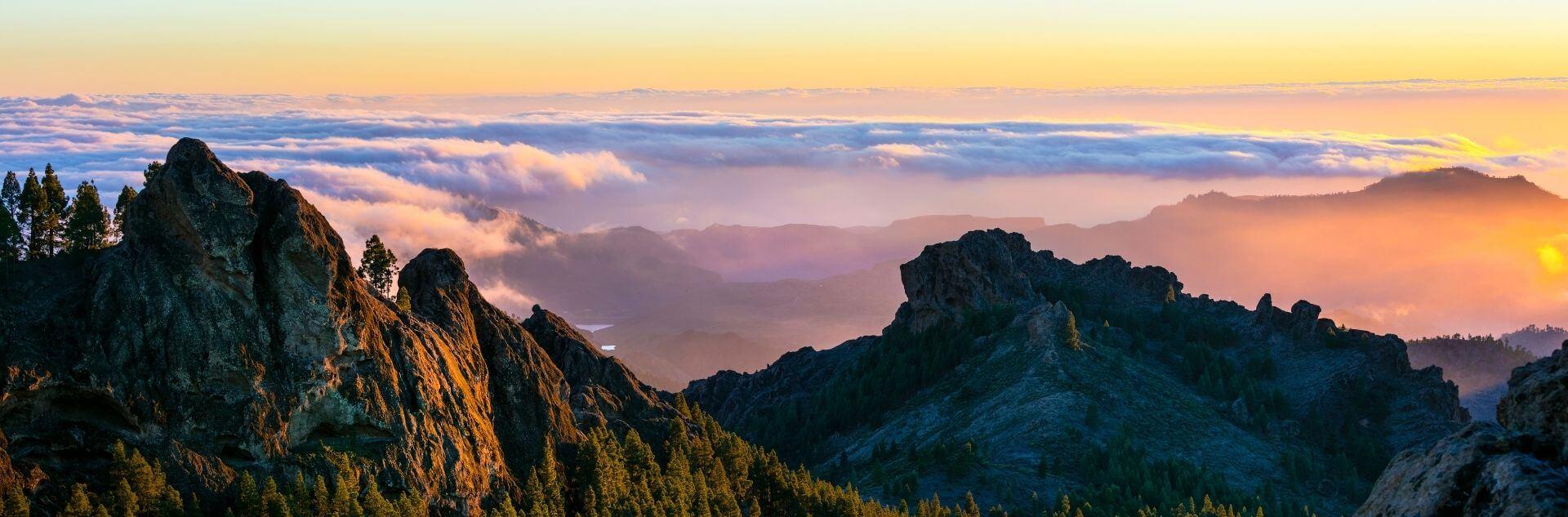 Sonnenaufgang Berglandschaft Gran Canaria