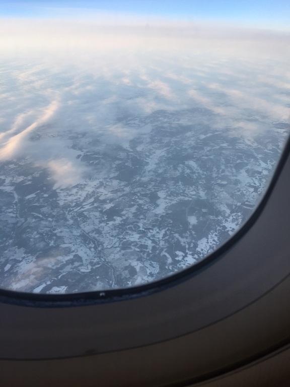 Lappland vom Flugzeug aus