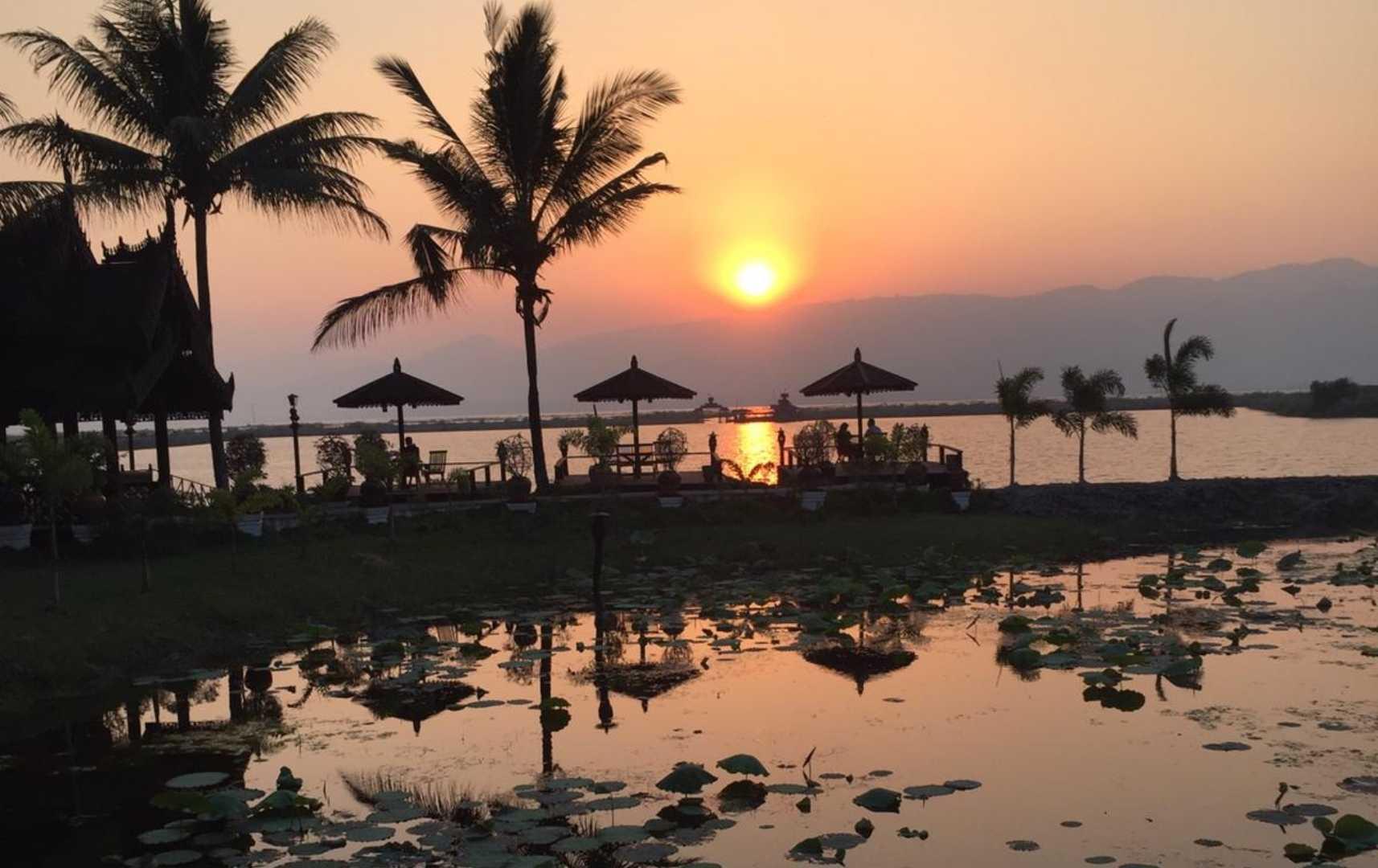 Abendstimmung Sonnenuntergang - Myanmar