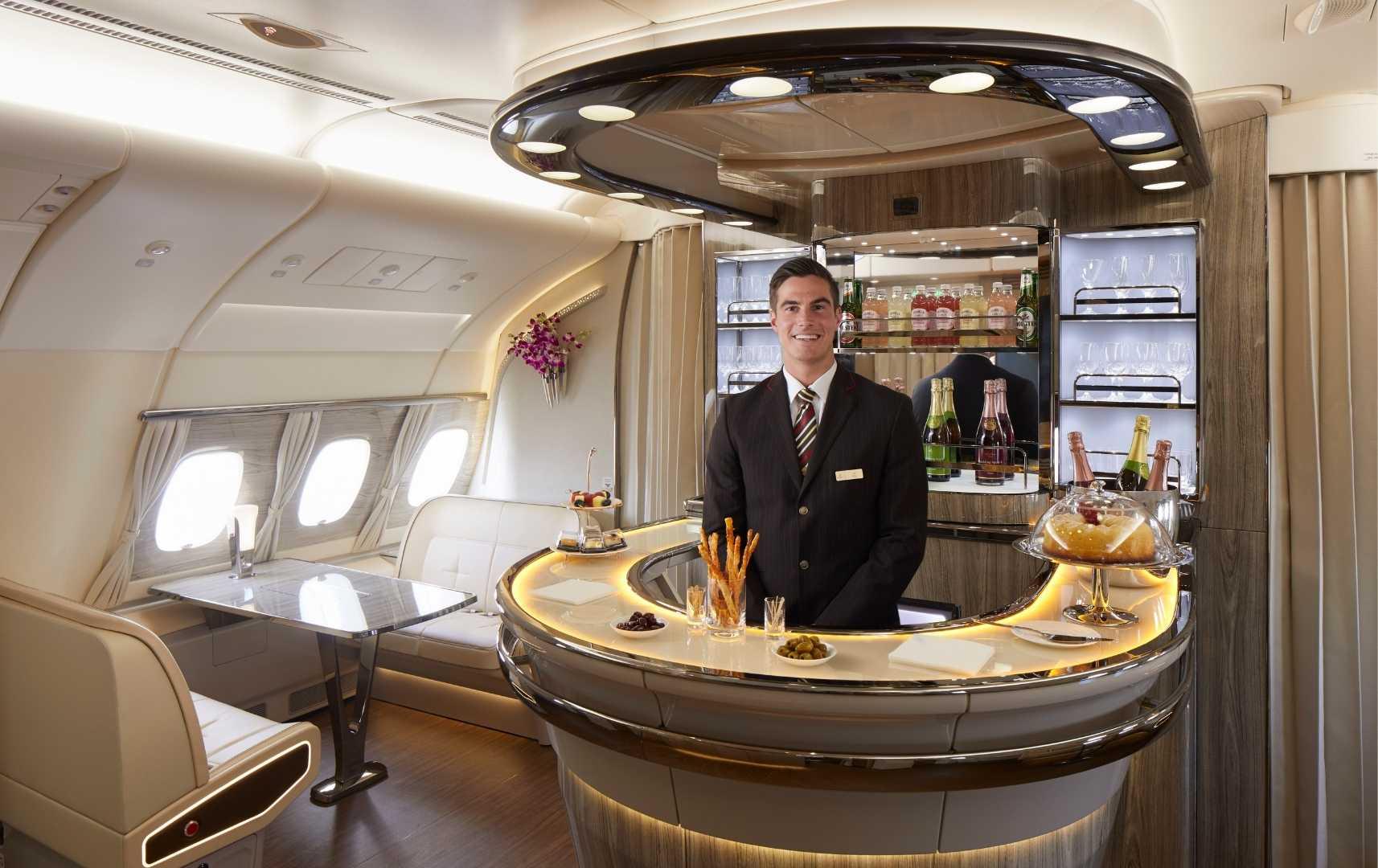 Besonderer Service in der A380
