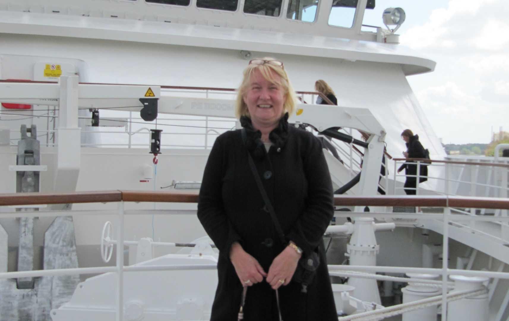 Bettina Heinz an Bord - Hanseatic Nature