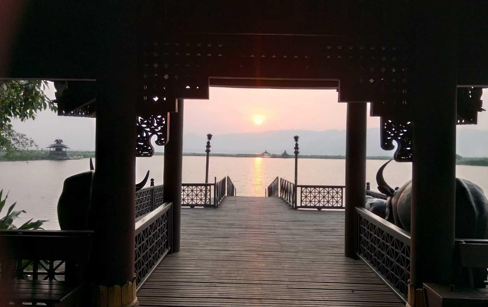 Blick auf den See - Myanmar