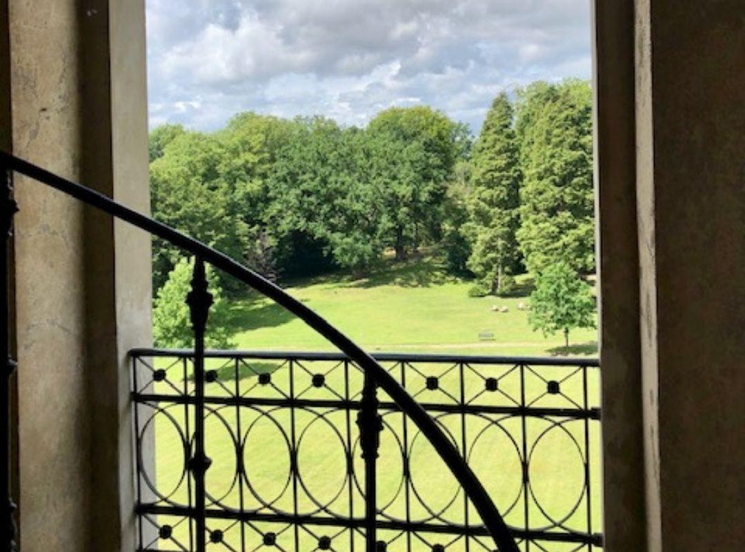 Blick in den Garten vom Schloss