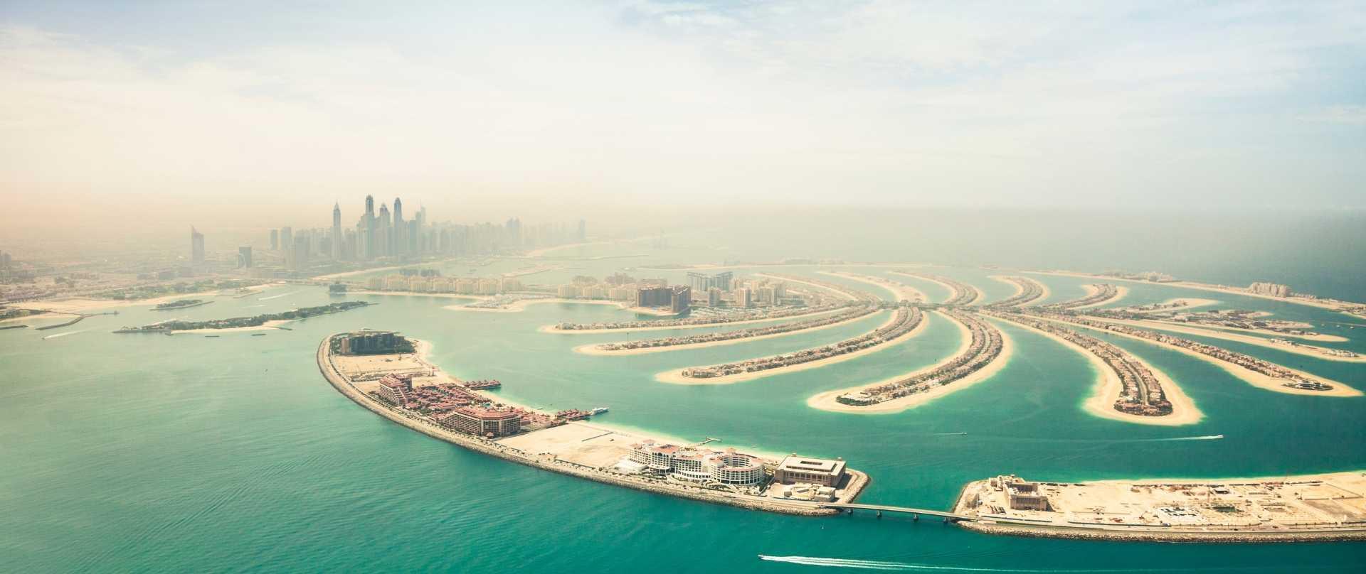 Dubai: Blick auf die Skyline und The Palm