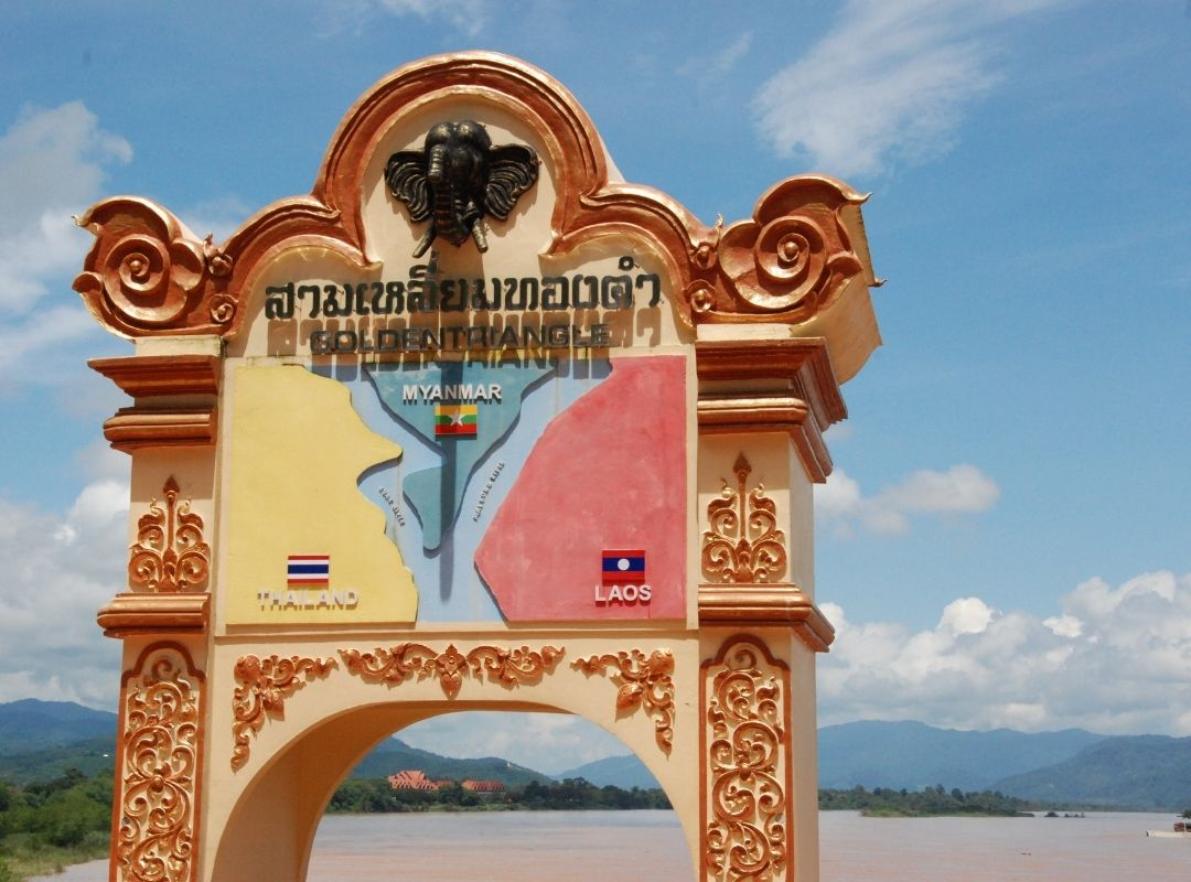 Grenzregion zu Thailand und Myanmar