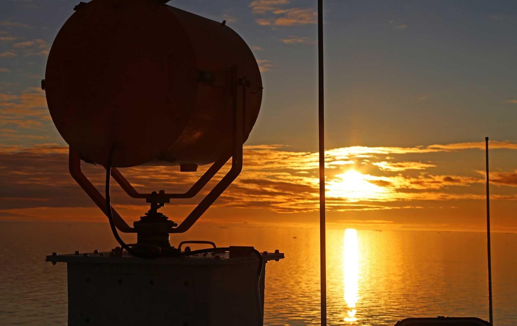 Sonnenuntergang an Bord der MS Hanseatic